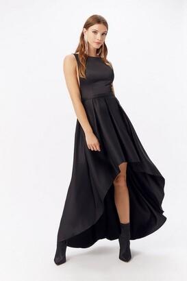 Coast Satin Dip Hem Midi Dress