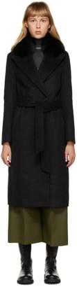 Mackage Black Fur Sienna Coat