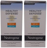 Neutrogena Healthy Defense Daily Moisturizer, SPF 30, Light Tint 1.7 Ounces (Pack of 2)
