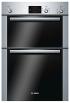 Bosch HBM13B251B Double Electric Oven, Brushed Steel