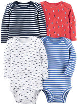 Carter's 4-Pack Long-Sleeve Bodysuits
