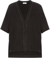 Brunello Cucinelli Embellished short-sleeved cashmere cardigan