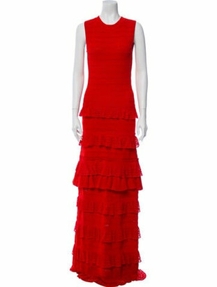 Oscar de la Renta 2017 Long Dress Red
