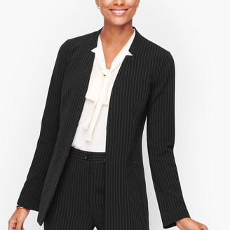 Talbots Easy Travel Pinstripe Jacket