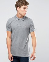 Paul Smith PS by Polo Shirt With Zebra Logo In Slim Fit Gray Marl