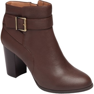 Vionic Leather Block-Heel Ankle Boots - Alison