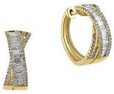 Effy D Oro Diamond and 14K Yellow Gold Earrings, 1 TCW