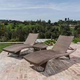 Bronx Ivy East Village 3 Piece Sun Lounger Set with Table Ivy Color: Mixed Mocha