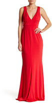 ABS Collection V-Neck Sleeveless Gown