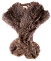 Marni Raccoon Fur Stole
