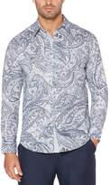 Cubavera Long Sleeve Paisley Button-Front Shirt