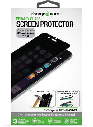 Chargeworx iPhone 7 Tempered Glass Privacy Screen