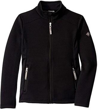 Spyder Encore Full Zip Jacket (Big Kids) (Black) Girl's Clothing