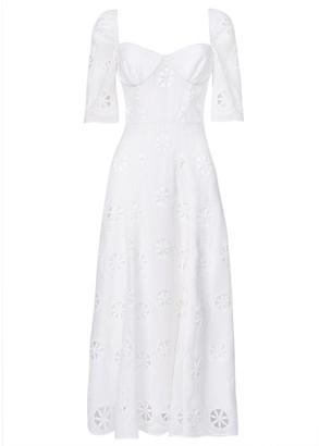 True Decadence White Broderie Midi Dress