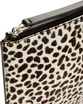 Jaeger Leather Animal Print Clutch