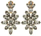 Oscar de la Renta Crystal clip-on earrings
