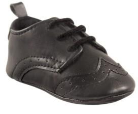 Luvable Friends Wingtip Dress Shoes, Black, 0-18 Months