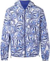 Versace Maiolica Baroque reversible hooded jacket