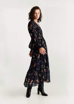 MANGO Metallic thread dress black - 2 - Women