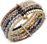 INC International Concepts Gold-Tone Beaded Cuff Bracelet, Only at Macy's