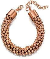 Fiorelli Costume Rose Gold Plate Chunky Bead Bracelet Length of 18-22 cm