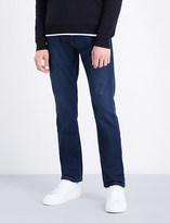 Armani Collezioni Slim-fit tapered stretch-denim jeans
