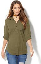 New York & Co. Soho Soft Shirt - Hi-Lo Tunic