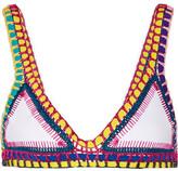 Kiini Yaz Crochet-trimmed Triangle Bikini Top