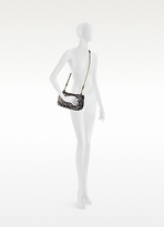 Jerome Dreyfuss Bobi Grey Leopard Print Haircalf Shoulder Bag
