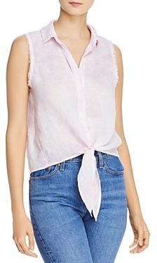 Bella Dahl Frayed Tie Hem Shirt