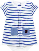 Petit Bateau Striped onesie dress