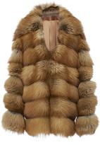 Jonathan Simkhai Fox Fur Maxi Coat