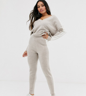 ASOS DESIGN Petite lounge co-ord knitted jogger with tipping