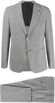 Eleventy Glen-Check Slim-Fit Suit