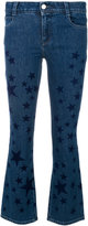 Stella McCartney star print kick flare jeans