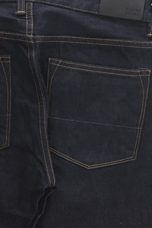 Simon Spurr Pipe Raw Indigo Denim