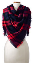 Classic Women's CashTouch Plaid Square Scarf-Champagne Heather