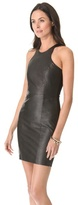 Mason by Michelle Mason Leather Front Dress