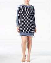MICHAEL Michael Kors Size Border-Print Sheath Dress