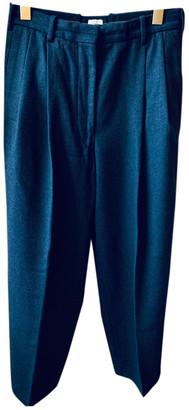 Hermes Blue Wool Trousers