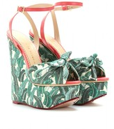 MEREDITH PRINTED CANVAS PLATFORM WEDGES