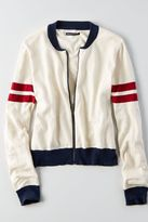 American Eagle Outfitters AE Zip-Up Bomber Cardigan