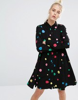 Lazy Oaf Shirt Dress With Scribble Dots