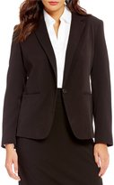 Investments Long Sleeve Button Front Blazer
