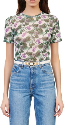 Maje Floral Print T-Shirt