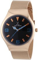Toy Watch ToyWatch Unisex Quartz Watch with Black Dial Analogue Display Stainless Steel MH01PG
