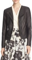 St. John Asymmetric Nappa Leather Moto Jacket