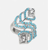 Avenue Peacock Feather Wrap Stretch Ring