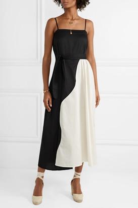 Mara Hoffman Net Sustain Philomena Two-tone Organic Cotton-voile Maxi Dress - Black