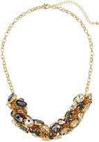 Fragments for Neiman Marcus Mixed Crystal Statement Necklace, Gold